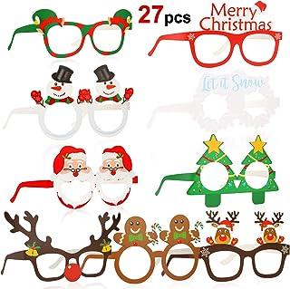 HOWAF 27 Piezas Marco de Gafas de Navidad Gafas photocall
