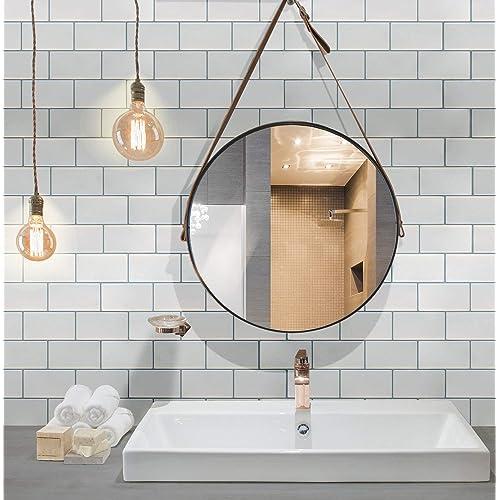 Waterproof Bathroom Vinyl Peel And Stick Tiles Amazoncom