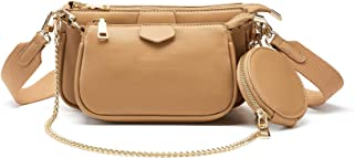 Sponsored Ad - Small Crossbody Bags for Women Multipurpose Golden Zippy Handbags with Coin Purse including 3 Size Bag
