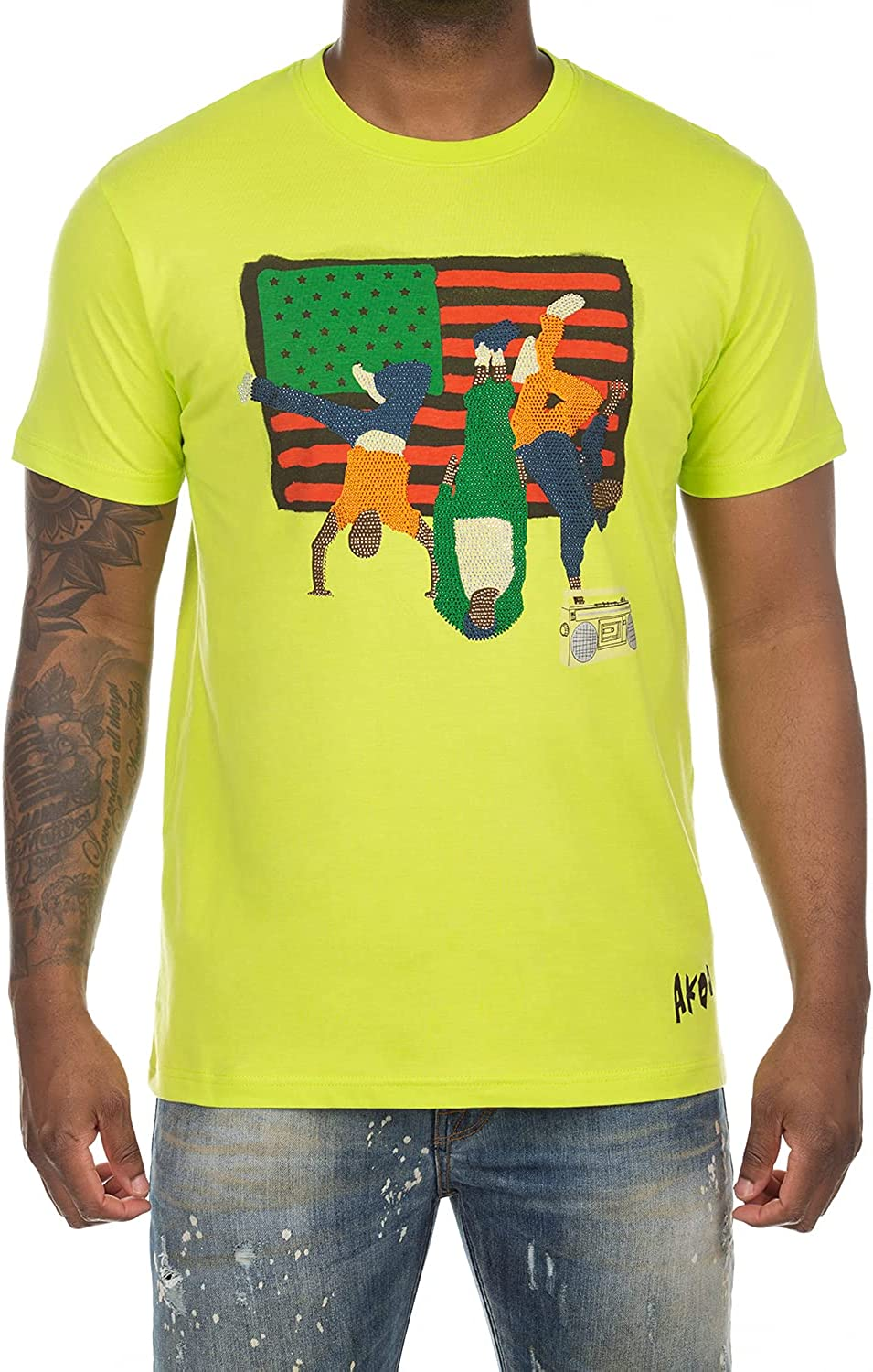 Akoo 上等 Clothing Men's T-Shirts Short Sleeve 市場 Fas for Cotton Stylish