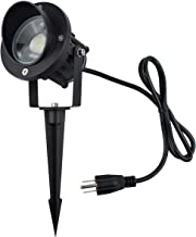 J.LUMI GBS9809 LED Outdoor Spotlight 9W, 120V AC, Replaces 75W Halogen, Metal Ground Stake, Daylight White, Outdoor Flag Light, Landscape Spotlight, UL-Listed Cord with Plug, Not Dimmable