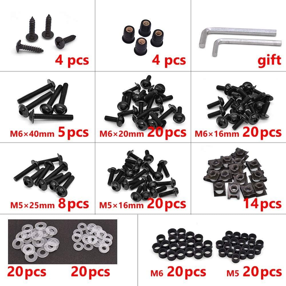 R//GT Durable Color : Black XIAOZHIWEN Motorrad-Verkleidungsschrauben Schraube Aluminium-Karosserie-Schrauben Nusskit f/ür BMW K1200R K1200S K 1200 R K1200 S K1300S