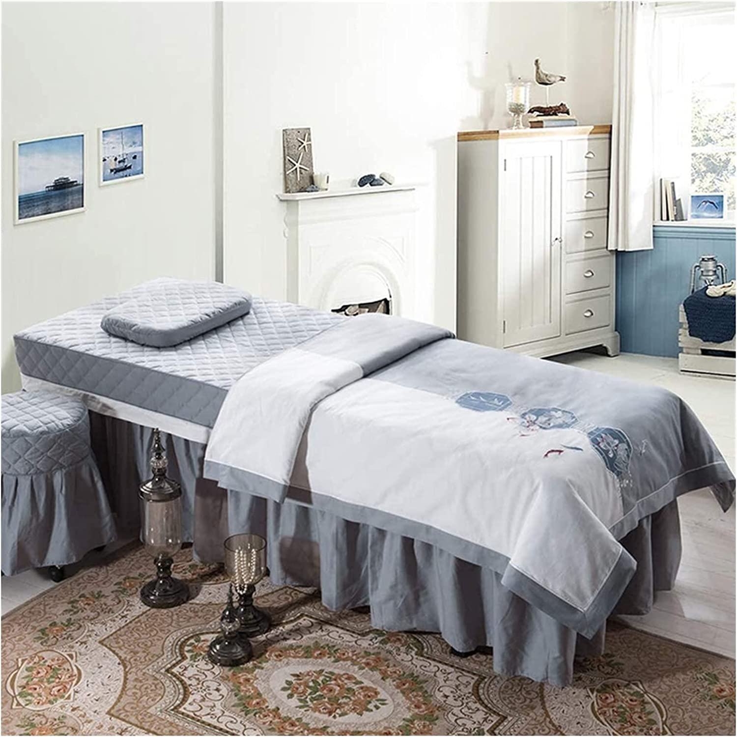 WANGLX 4-Piece Popular products safety Massage Table Simple Skirt Set Sheet