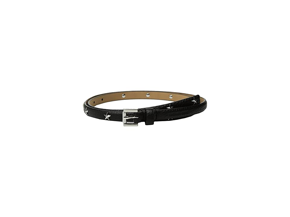 MICHAEL Michael Kors 13mm Skinny Pebble Star Belt (Black) Women