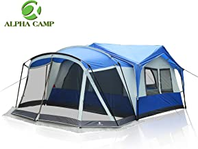 ALPHA CAMP 6 Person 10 Person Family Camping Tent Screen Room Cabin Tent Design