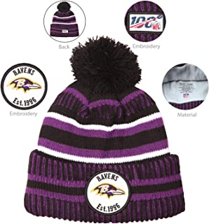 Winter Knit Beanie Warm Football Sport Hat Knitted Pom Cap Embroidery Logo Cold Proof Cozy Hat