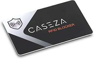 RFID Blocking Card - CASEZA RFID NFC Card Protector - Signal Blocking Protection for Your Credit Cards, ID & more - Replaces Blocking Sleeves/Bags - One Blocker Card Protects Your Entire Wallet