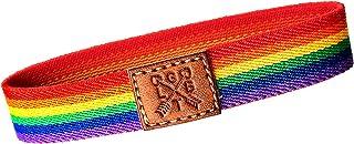 QUICKBOXX Pulsera Orgullo Gay Lesbiana LGTB Pride Elástica con Colores del Arco Iris Cómoda y Estilosa Unisex