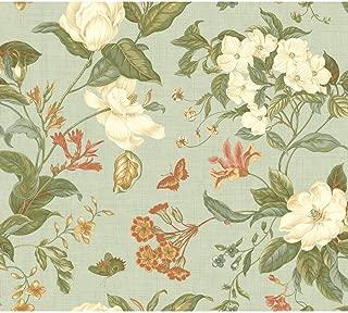 York Wallcoverings Williamsburg Garden Images Removable Wallpaper, Aqua/White/Red/Orange/Green/Blue/Green/Tan