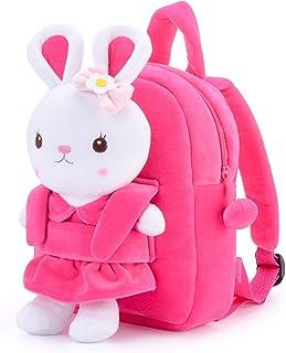 Kids Borsa Unicorno Fluffy Peluche Minion Zaino Scuola Materna LIBRO Zip Bag Regalo