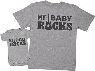 My Dad Rocks, My Baby Rocks - regalo para padres y bebés en