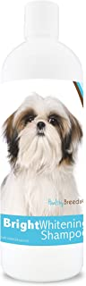 Healthy Breeds Bright Whitening Dog Shampoo for White & Lighter Fur - Over 150 Breeds - Pina Colada Scent - 12 oz
