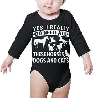 Marsherun Babys Girl Boy The Pitbull Face Long-Sleeve Climbing Bodysuits Playsuit