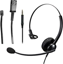 $31 » Telephone Headset w/ RJ9 Quick Disconnect Cable for Cisco Plantronics Avaya Siemens Nortel Panasonic IP Phone Deskphone La...