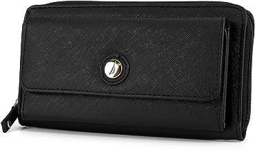 Nautica Bulk Cargo Womens RFID Wallet Clutch Zip Around Organizer (Black)