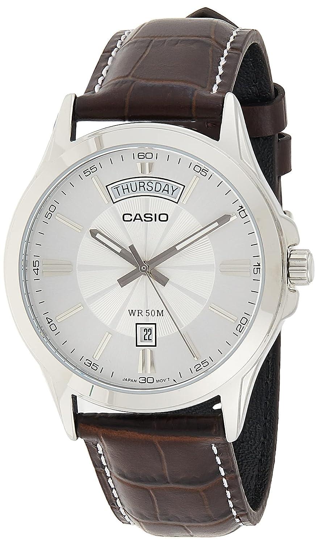 Casio Enticer Men Analog Silver Dial Watch MTP 1381L 7AVDF Wrist Watches