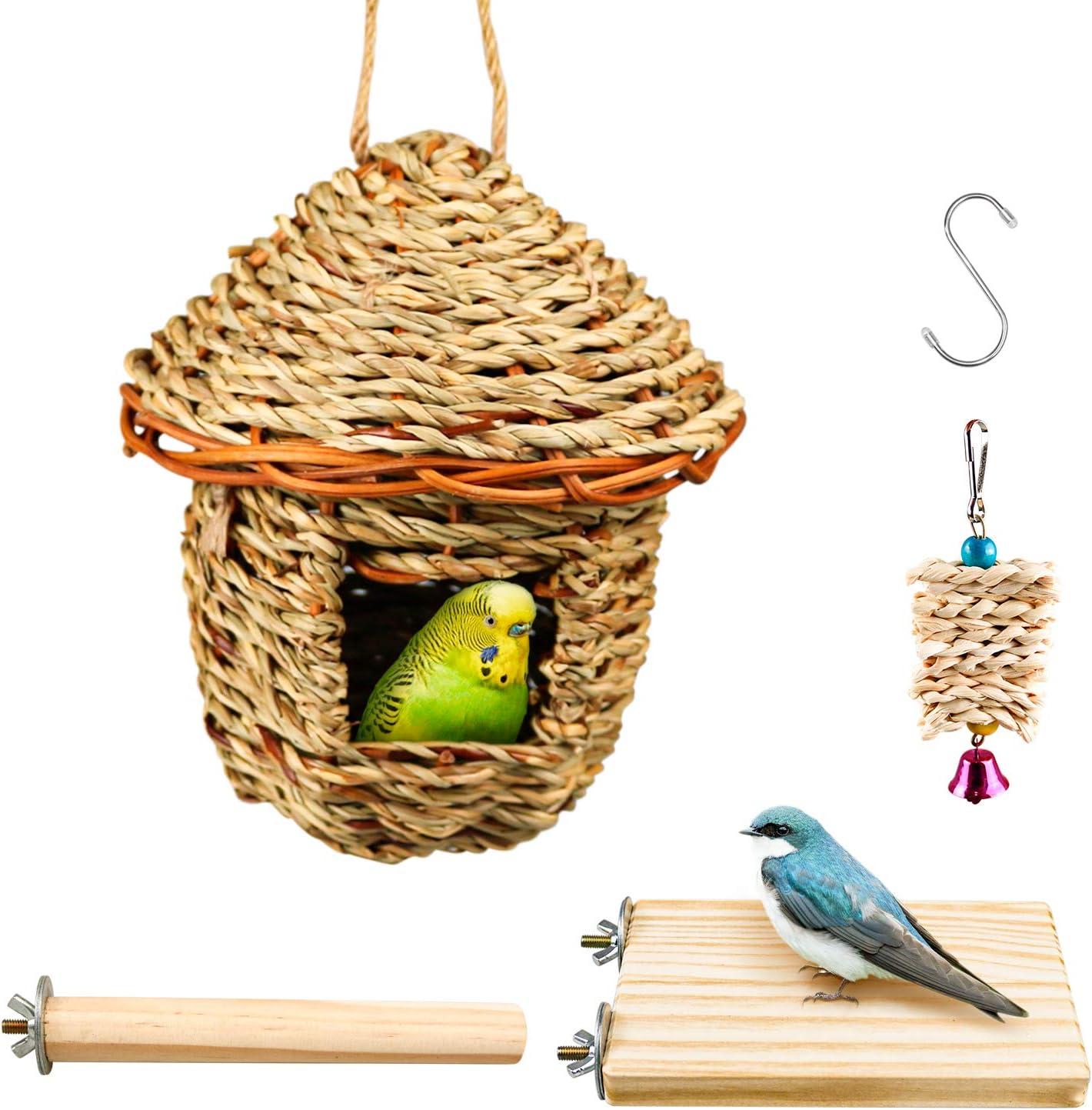 S-Mechanic Hummingbird Bird Nest 2021 new Handwoven Portland Mall Hanging Grass B Straw