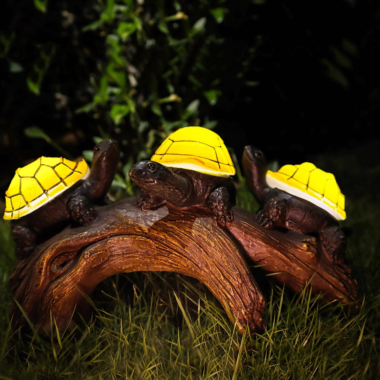 Recommendation Solar Garden Turtle Statues Light Turtles Decor w Popular standard Outdoor