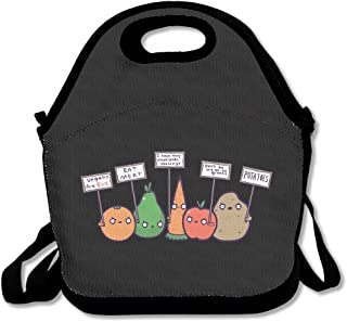 Funny I Hate Vegans Lunch Tote Bag Bags Awesome Lunch Handbag Lunchbox Box For School Work Outdoor