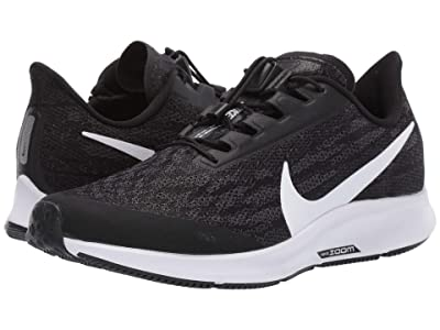 Nike FlyEase Air Zoom Pegasus 36 (Black/White/Thunder Grey) Women