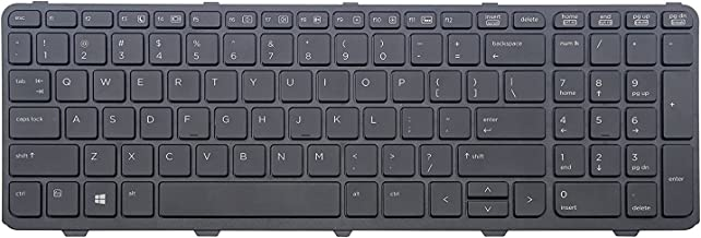 New Laptop Keyboard with Frame Replacement for HP Probook 450 G0 450 G1 450 G2 455 G1 455 G2 470 G1, MP-12M73IN-442 727682-D61 721953-001 727682-001 90.4ZA07.L01 US Layout Black Color