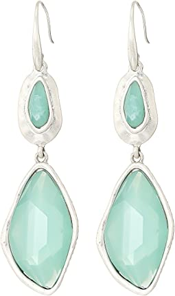 The Sak - Large Stone Double Drop Earrings