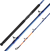 KastKing KastKat Catfish Rods,100% Linear S-Glass,Incredible Strength & Lifting Power, Stainless Steel Double Foot Guides, Cross Wrapped Handle, Strong Reel Seats, Orange Strike Tips