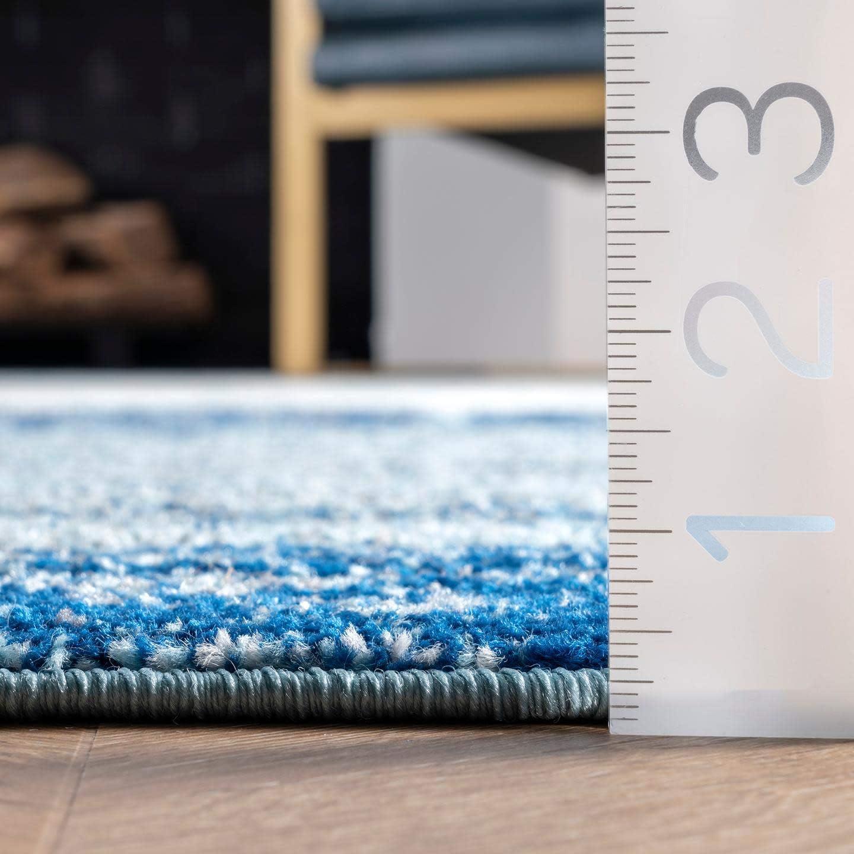 Blue 2 6 x 6 nuLOOM Alayna Abstract Area Rug
