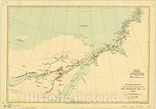 Historic Pictoric Map : Arctic Regions 1884, The Greely Expedition : map Showing The explorations by Lieut. J.B. Lockwood, Infty. A.S.O, 1882-1883, Antique Vintage Reproduction : 63in x 44in