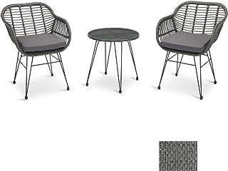 PROHIKER 3 PCS Woven Faux Rattan Chairs, Patio Furniture...