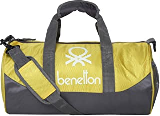 fbaa5e1b9 United Colors of Benetton Gym Bag Polyester 44 cms Yellow/Grey Gym Shoulder  Bag (