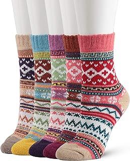 Mujer Calcetines, 6 Pares Calcetines De Algodón Niña Calcetines Divertidos Acogedor Transpirable Para Mujeres y Niñas Regalos De San Valentín De Uso Diario