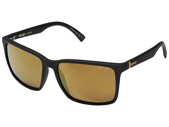 VonZipper Lesmore Polar (Black Satin/Wild Gold Flash Polar Plus) Sport Sunglasses