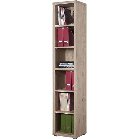 CTO Libreria Libreria a 4 strati Libreria semplice Soggiorno Libreria sopraelevata in legno Libreria multistrato Semplice Storage Rack,Legno di ciliegio