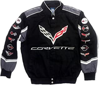 J.H. Design Corvette C7 Twill Jacket with Embroidered Logos by JH Design