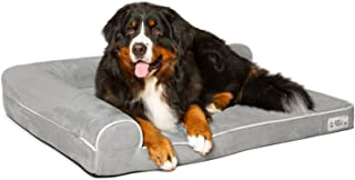 PetFusion BetterLounge Dog Bed w/ solid orthopedic Memory Foam, Waterproof foam liner, & YKK zippers. (Easy clean, removable micro-suede cover). 1 yr Warranty
