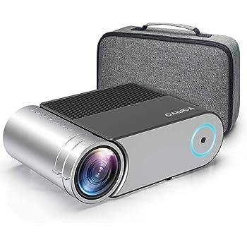 """Proiettore, Vamvo Videoproiettore Portatile 1280*720p, Display da 200"""" Full HD 1080p Supportato, Proiettore Cinematografico 4000 Lumens con 50,000 Ore, con HDMI/ VGA/ USB 2.0/ AV"""