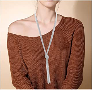 VUJANTIRY Women's Long Necklace Minimalist Lariat Pendant...