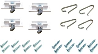 Real Estate Sign Holders & Sign Clips (4 Each), for Hanging Or Attaching Signs and Riders to Posts, Includes Mounting Screws