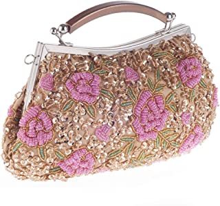 Clutch Bag, Brand New Craft Beaded Bag Ladies Clutch Bag Evening Party/Bridal Wedding/Hand Bag