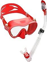 Cressi Scuba Diving Snorkeling Kit - Freediving Mask & Dry Snorkel | F1 & Supernova Dry: Designed in Italy