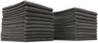 The Rag Company (20-Pack) 10 in. x 10 in. All-Purpose Microfiber Highly Absorbent, LINT-Free, Streak-Free Cleaning Towels (Grey)