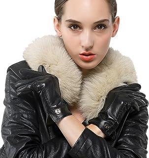 Nappaglo donne classico vera nappa, guanti di pelle puro cashmere in inverno caldo semplici guanti (touchscreen o non touc...
