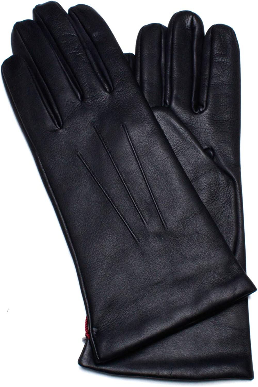 Dents Womens Isabelle Cashmere Lined Hairsheep Leather Gloves - Navy