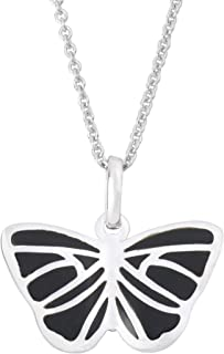QQ&U Sterling Silver Butterfly Necklace for Women