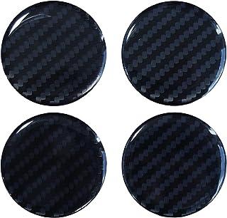Nabenkappen 3D   910033 Carbon Schwarz   Felgendeckel Radnabendeckel 55 mm   Hightech Folie mit sichtbarer Struktur