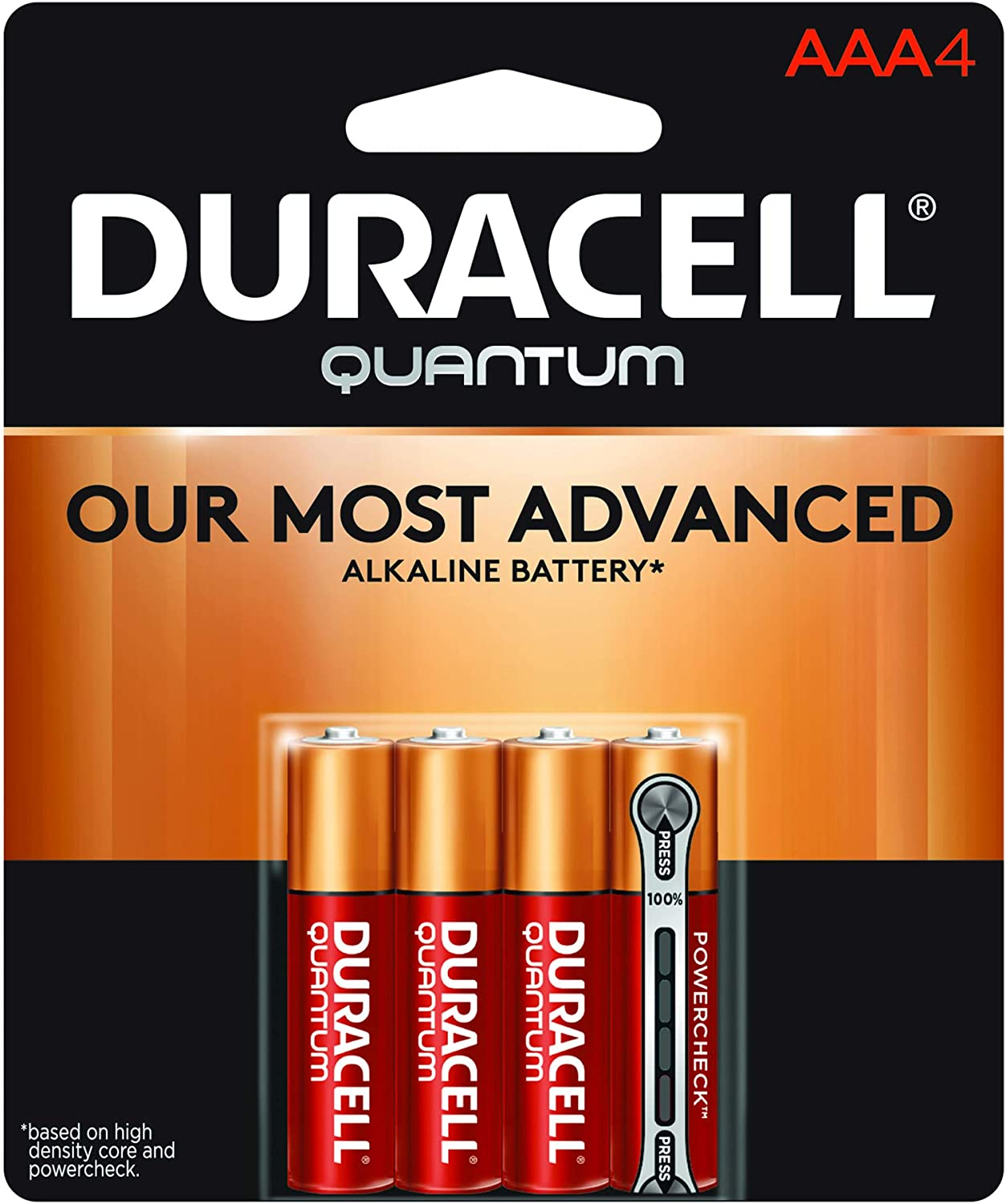 Duracell Quantum Max 46% OFF 4 Sales results No. 1 Count Alkaline 0.12 Batteries AAA Pound