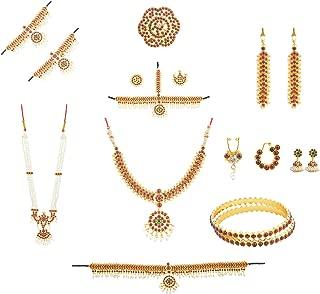 Khushi Purchase Women's Bharatanatyam Full Set (10 Items) Multi-Colour