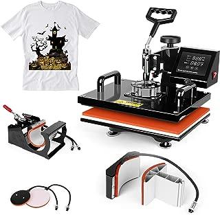 TUSY Heat Press Machine 12x15 inch-5 in 1 Swing Away Digital Industrial Sublimation Printing Press Heat Machine for T-Shirt Plate Mug Hat