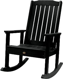 Highwood AD-RKCH1-BKE Lehigh Rocking Chair, Black